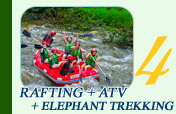 Rafting and ATV and Elephant Trekking