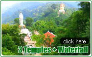 3 Temples and Waterfall