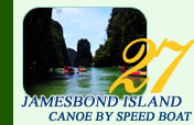 Jamesbond Island Canoe by Speed Boat
